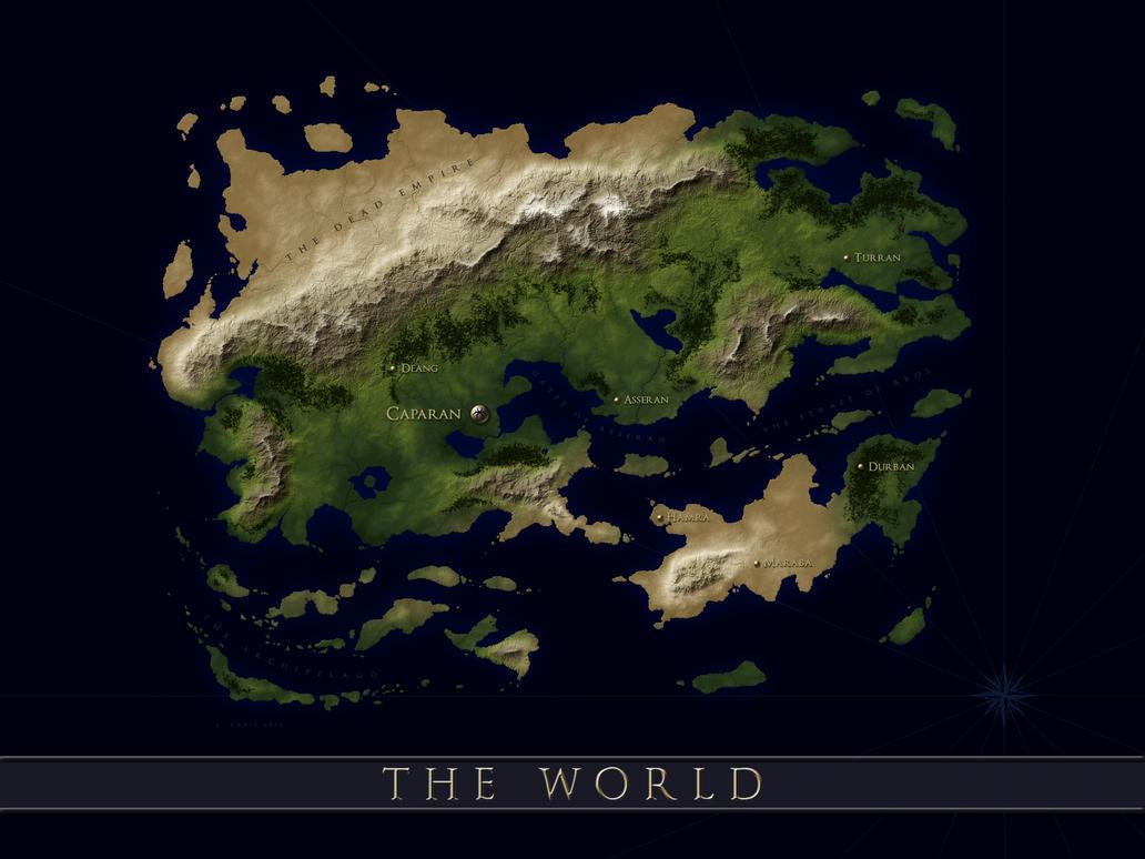 The Five Kingdoms Overland Map Fantasy Map Maker World Building Test