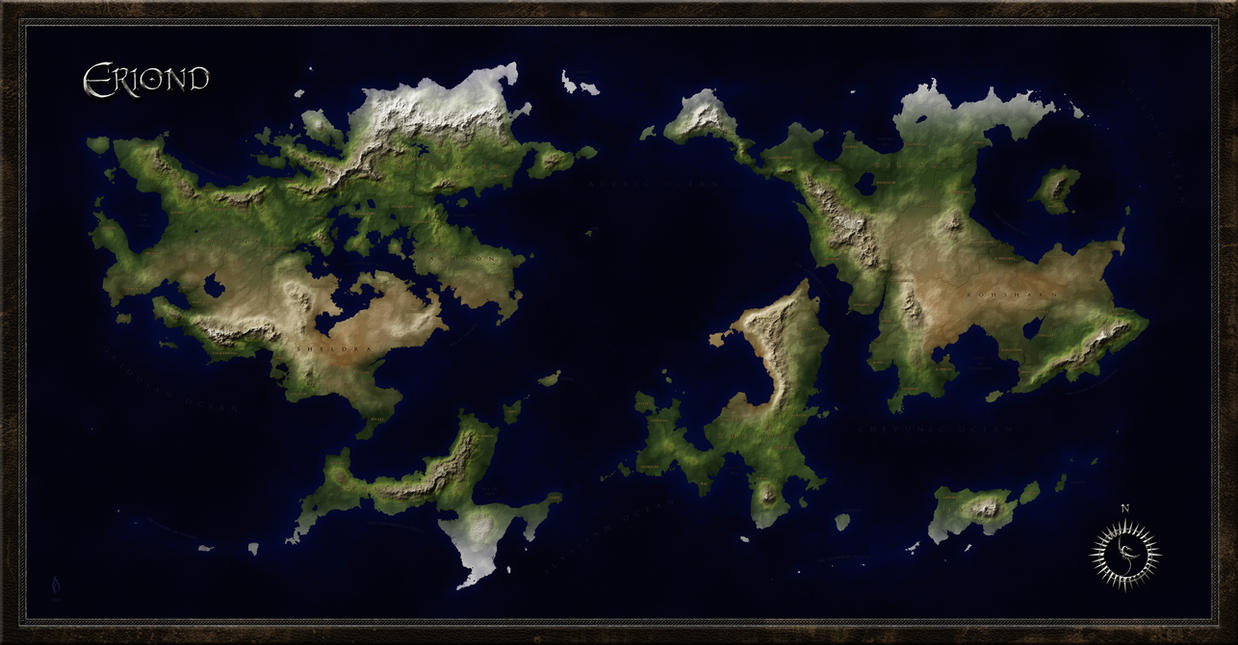 World map of eriond by arsheesh on deviantart world map of eriond by arsheesh sciox Images