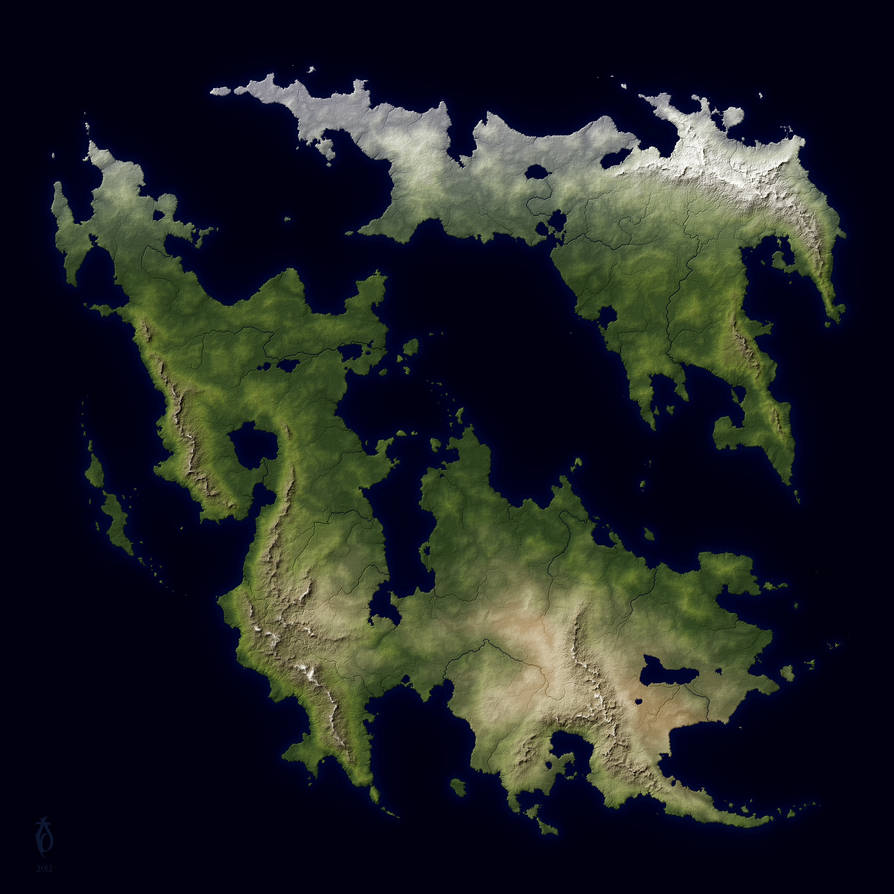 Worlf Map, A Free Fantasy Map By Arsheesh, Worlf Map