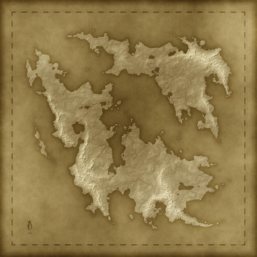 Fantasy Map Template a Free Old Fantasy Map by