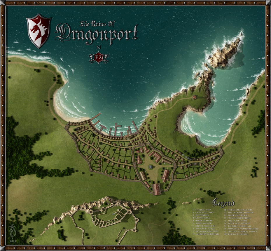 The Ruins of Dragonport by arsheesh