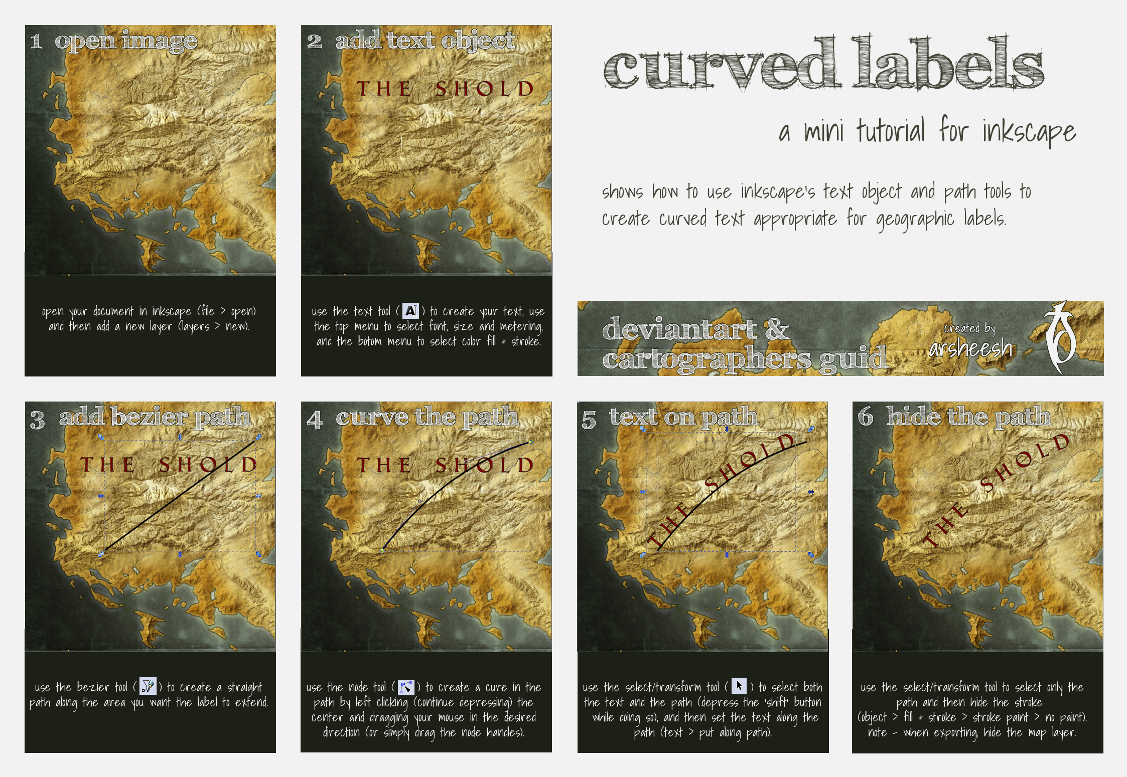 Curved Labels by arsheesh