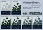 Winter Forest Mini Tutorial