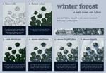 Winter Forest Mini Tutorial