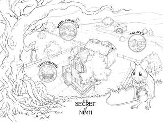 The Secret of Nimh Map by arsheesh