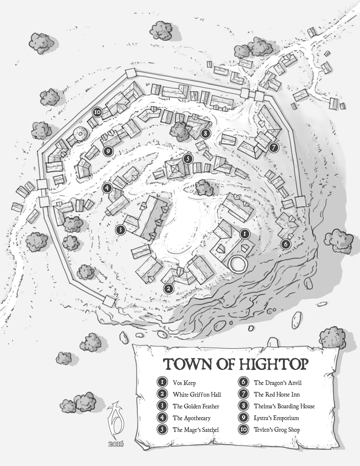 Town of Hightop by arsheesh