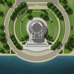 Jefferson Memorial Battlemap Commission by arsheesh