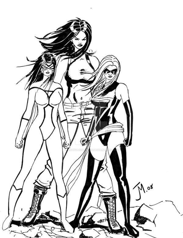Marvel Girls by artistjoshmills