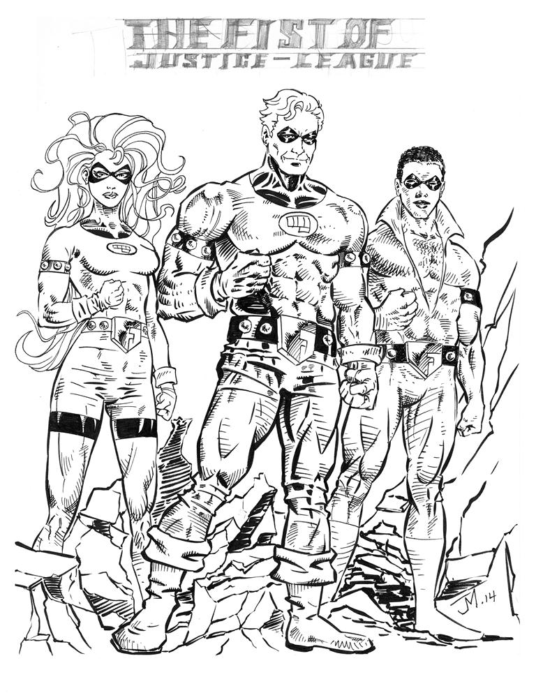 Fist of Justice - League inked by artistjoshmills
