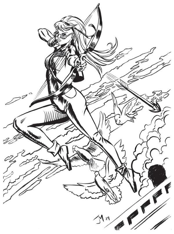 Female Hawkeye by artistjoshmills