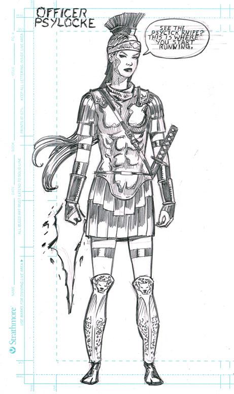 Roman Psylocke by artistjoshmills
