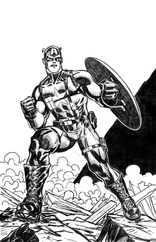 Captain America by artistjoshmills