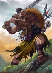 Hill Giant Captain by MilonasDionisis
