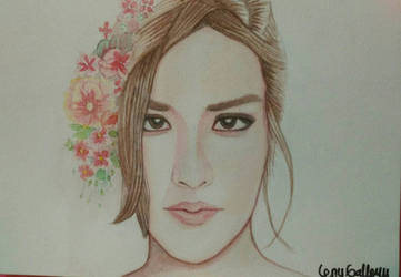 DRAWING RAISA WITH WATER COLOR ARTIST by lenygallery