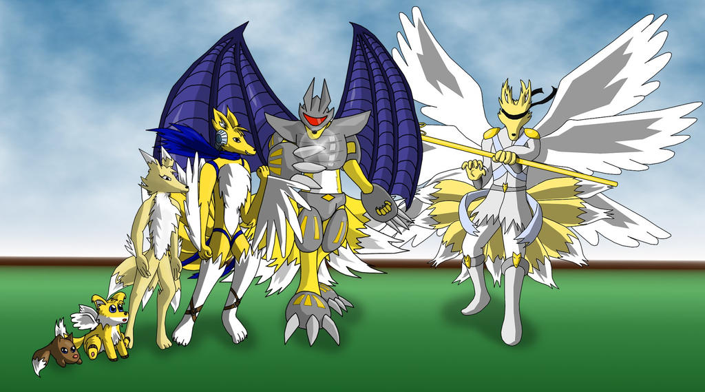 Kitsumon full evolution line by Miracle-Fox on DeviantArt