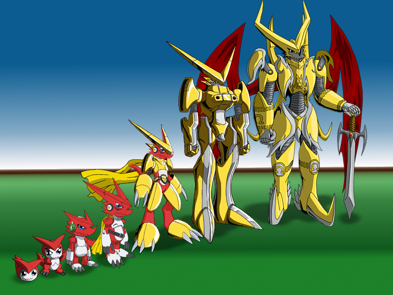 Shoutmon Evolution line by Miracle-FoxGumdramon Evolution