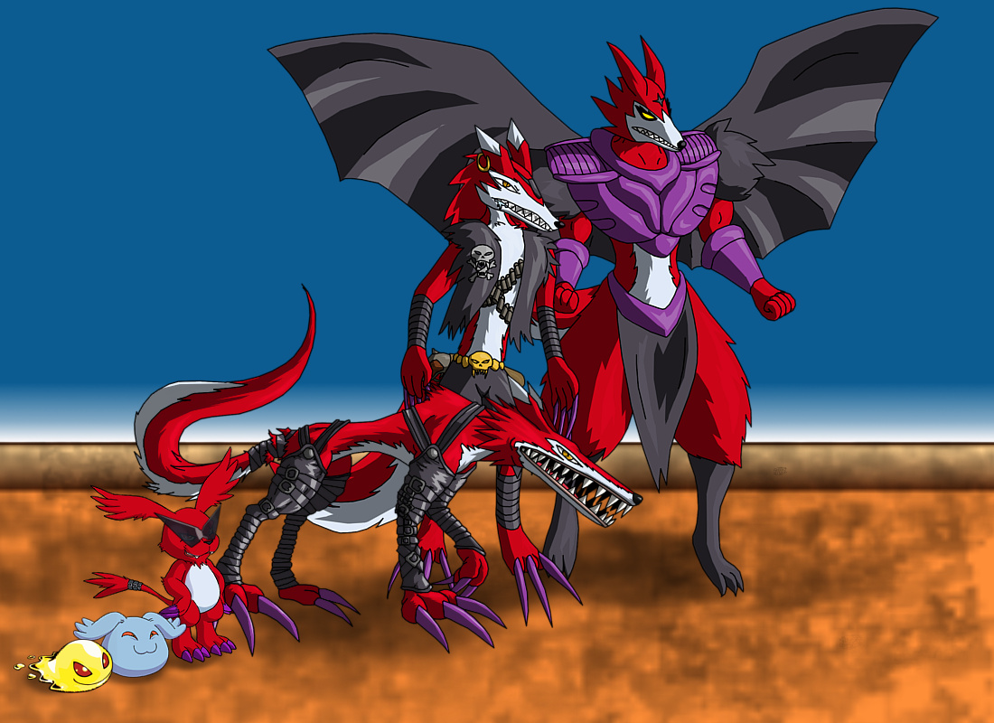 Shoutmon (Shouty) Xros Evolution Line by SACRET on DeviantArt