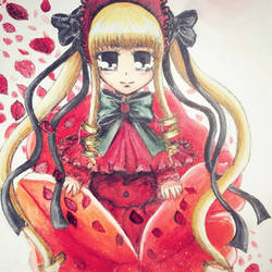 a wild shinku appears :D (rozen maiden)fanart