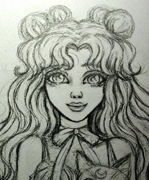 WIP: Luna as a human (Sailor Moon)