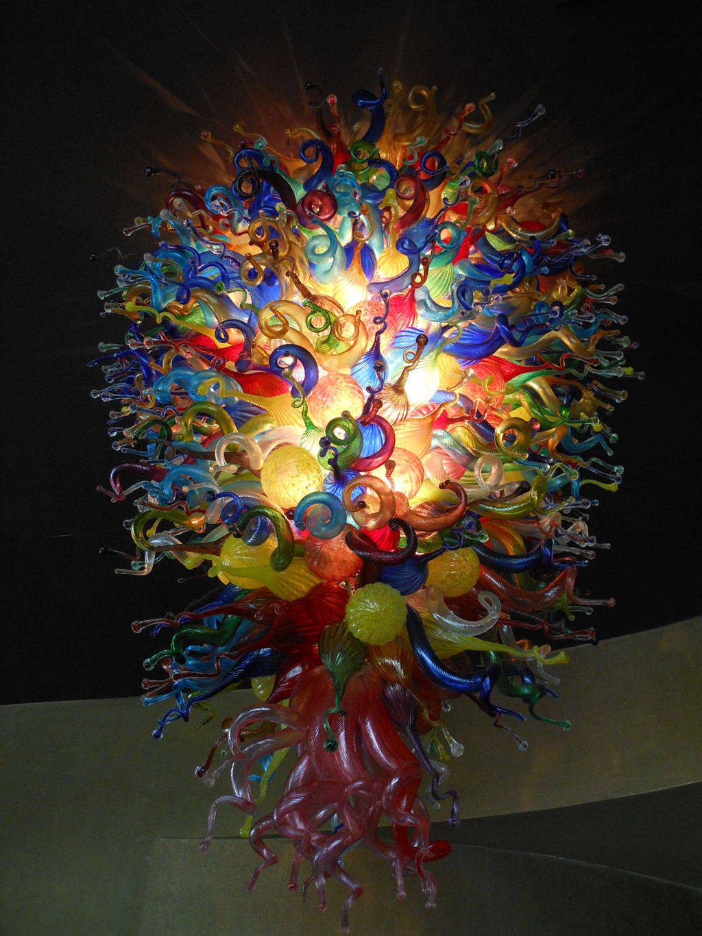 Blown Glass Chandelier by discoinferno84