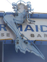 The Blue Mermaid Sign by discoinferno84