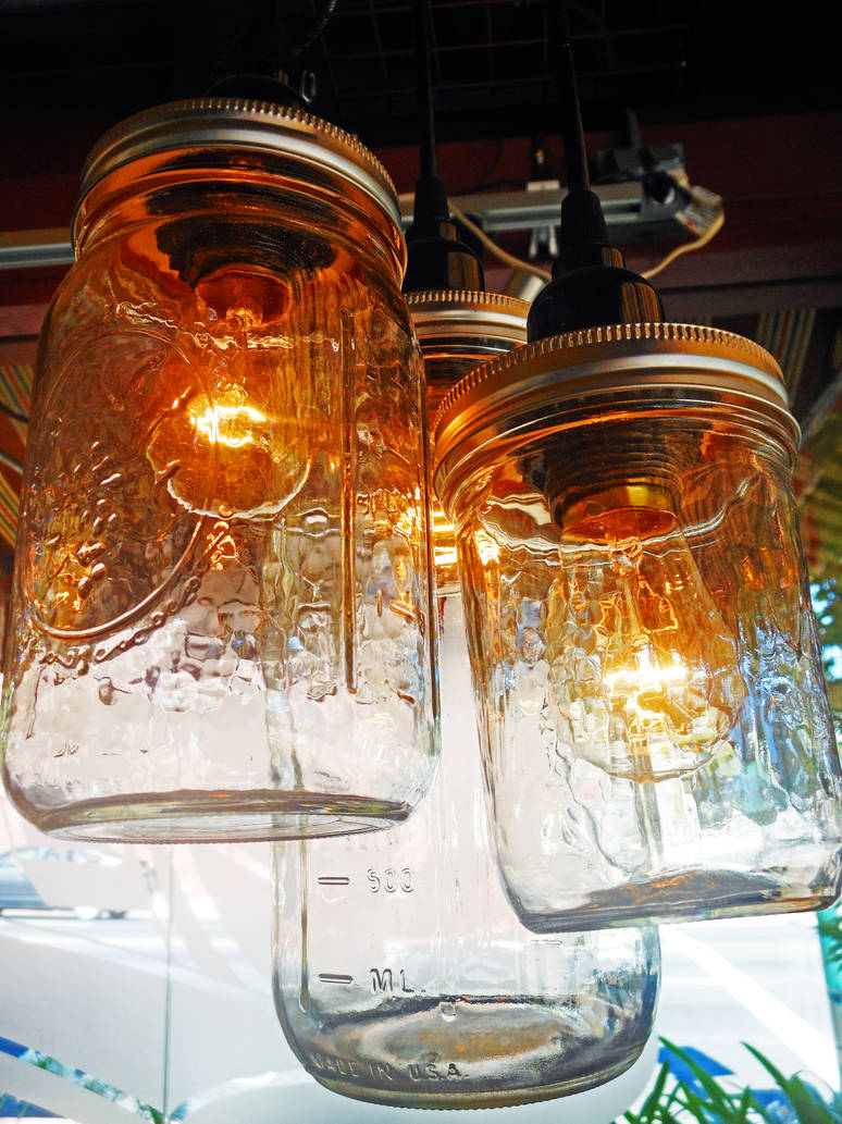 Jar Lamps by discoinferno84