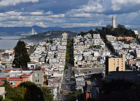 Lombard Street From The Top by discoinferno84
