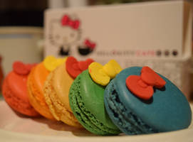 Hello Kitty Macarons by discoinferno84