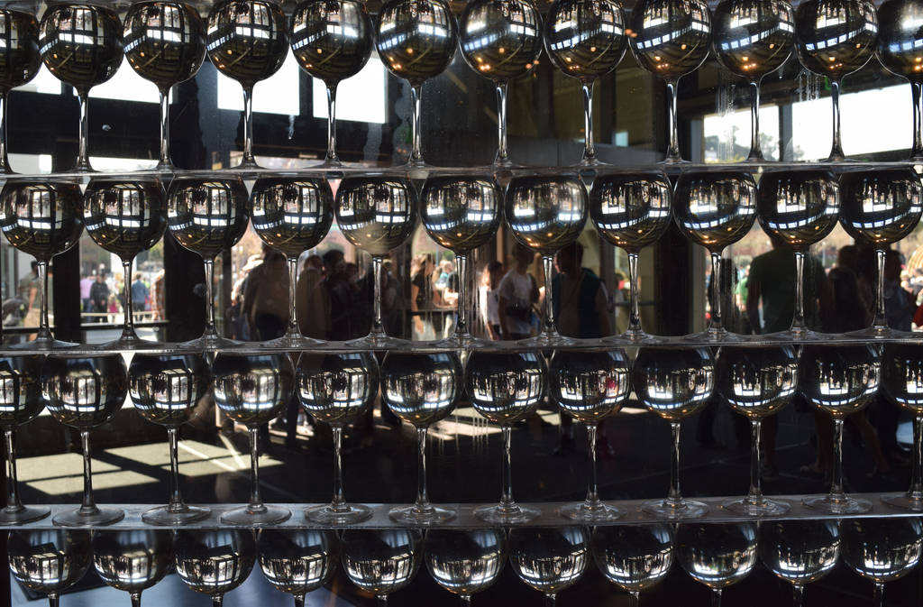 Wine Glass Wall by discoinferno84
