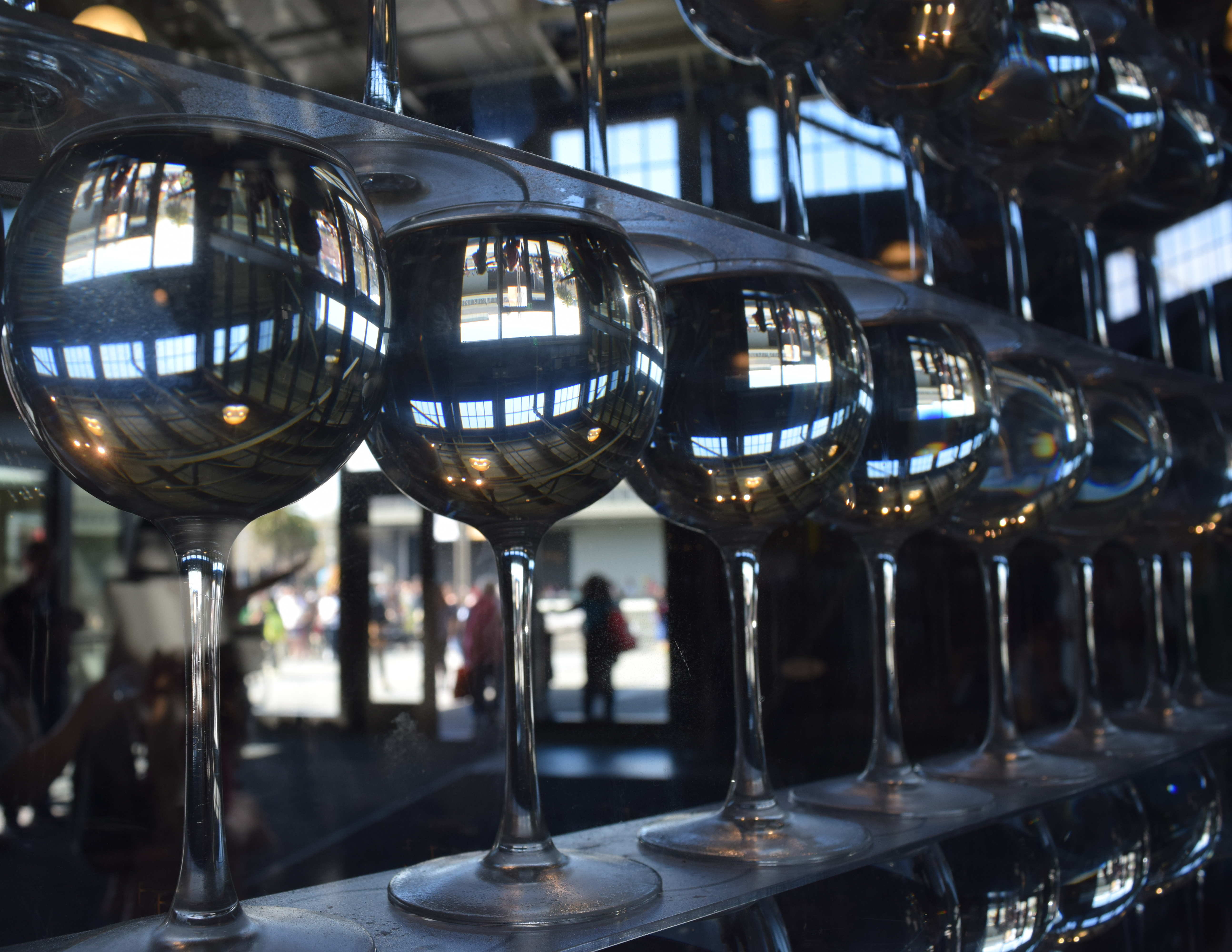 Wine Glass Reflections by discoinferno84