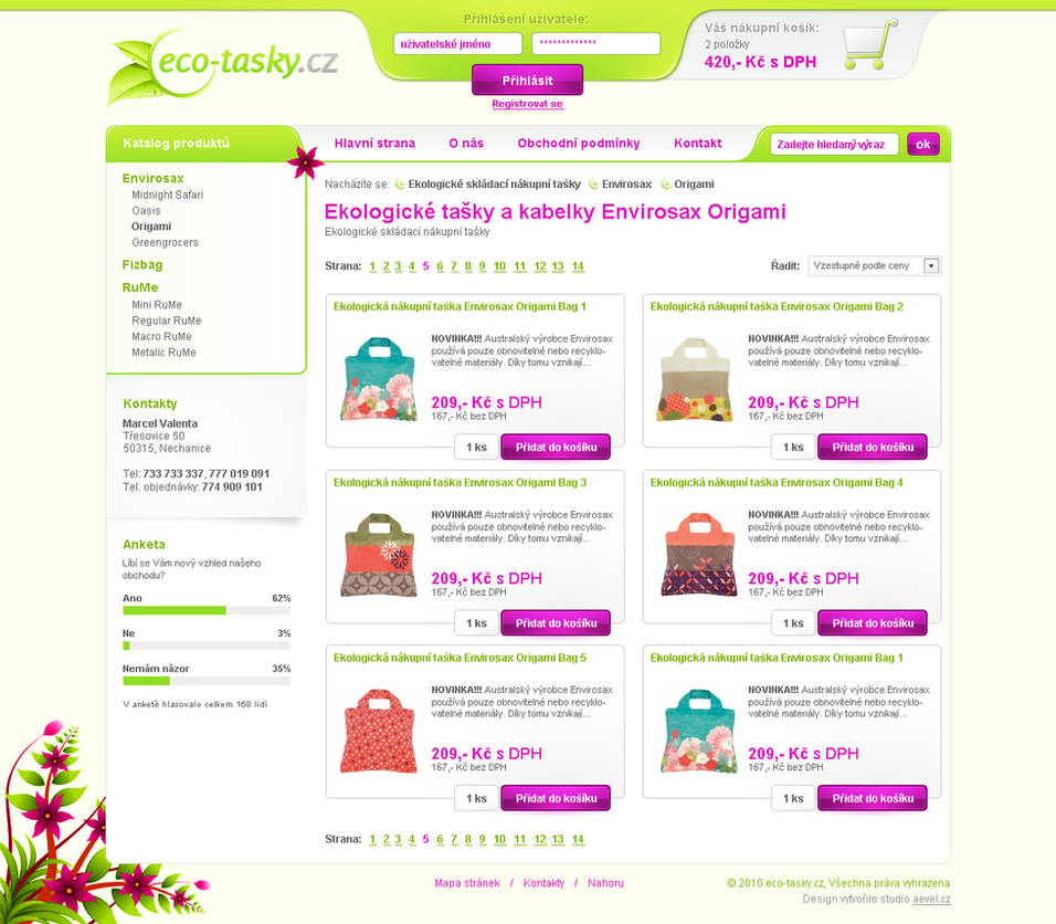 ecological bags reseller by aevel
