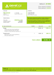 invoice design by aevel