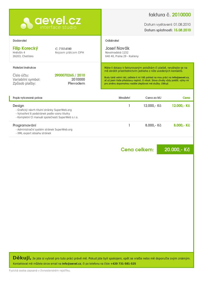 Design invoices