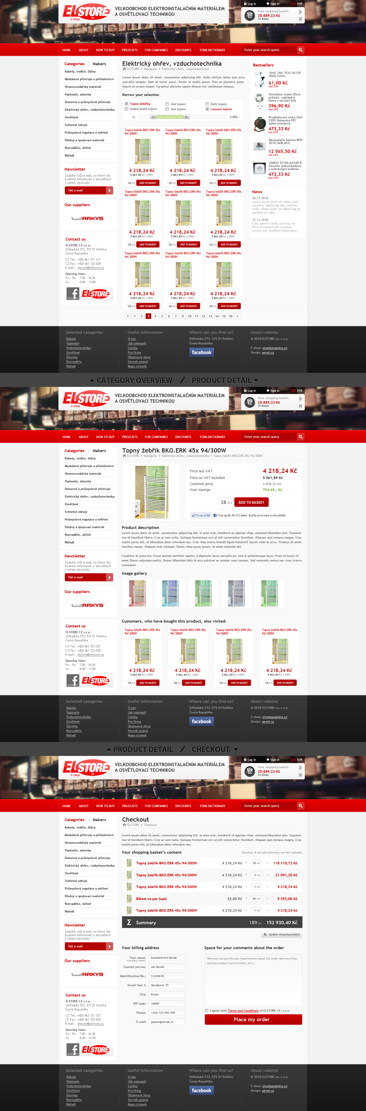 Elstore CZ ecommerce by aevel