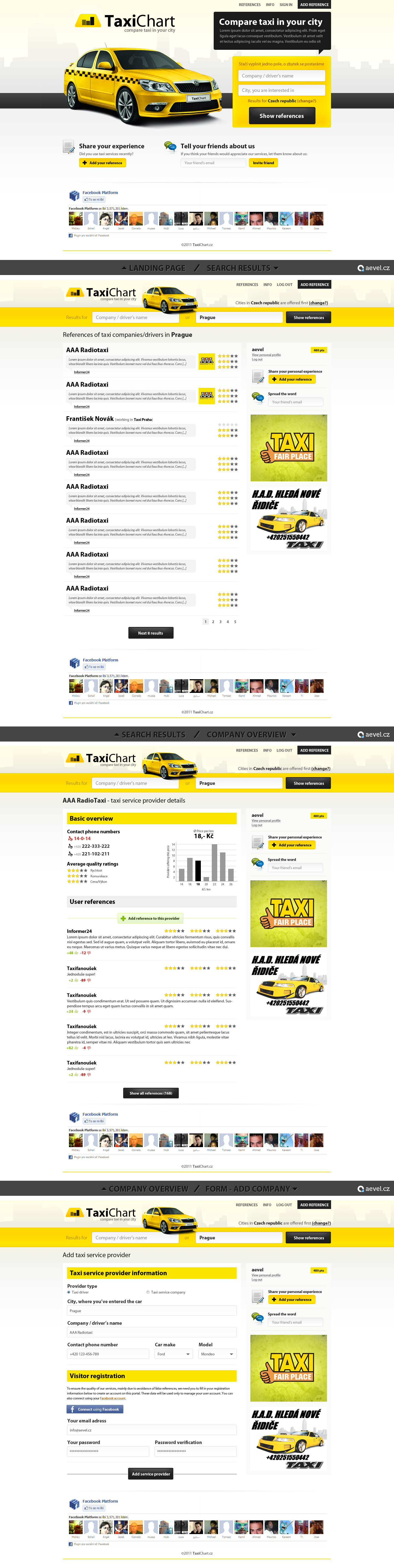 taxi comparison website by aevel