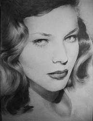Lauren Bacall by EshiraArt