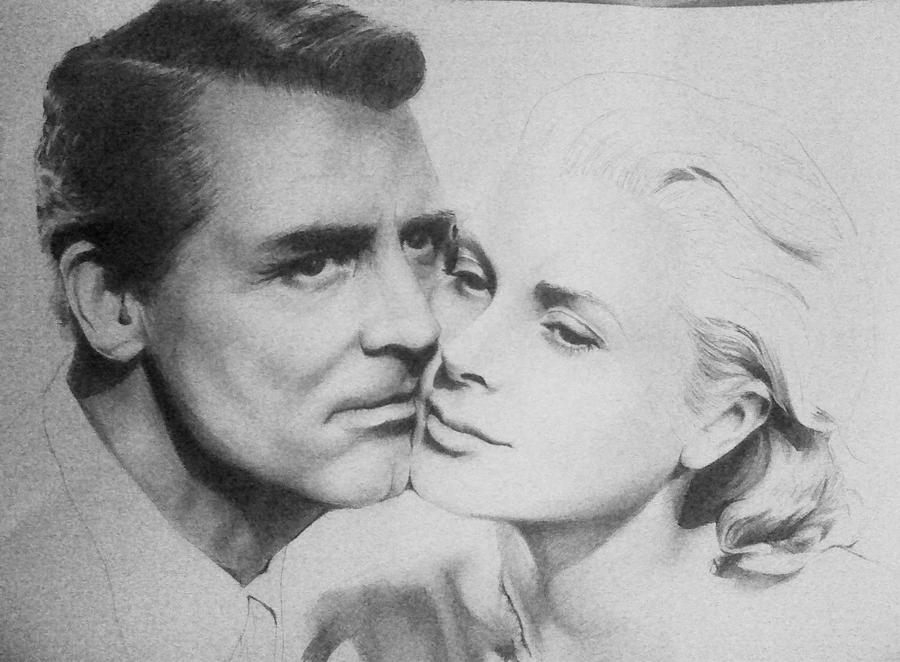 WIP Cary Grant and Grace Kelly by EshiraArt