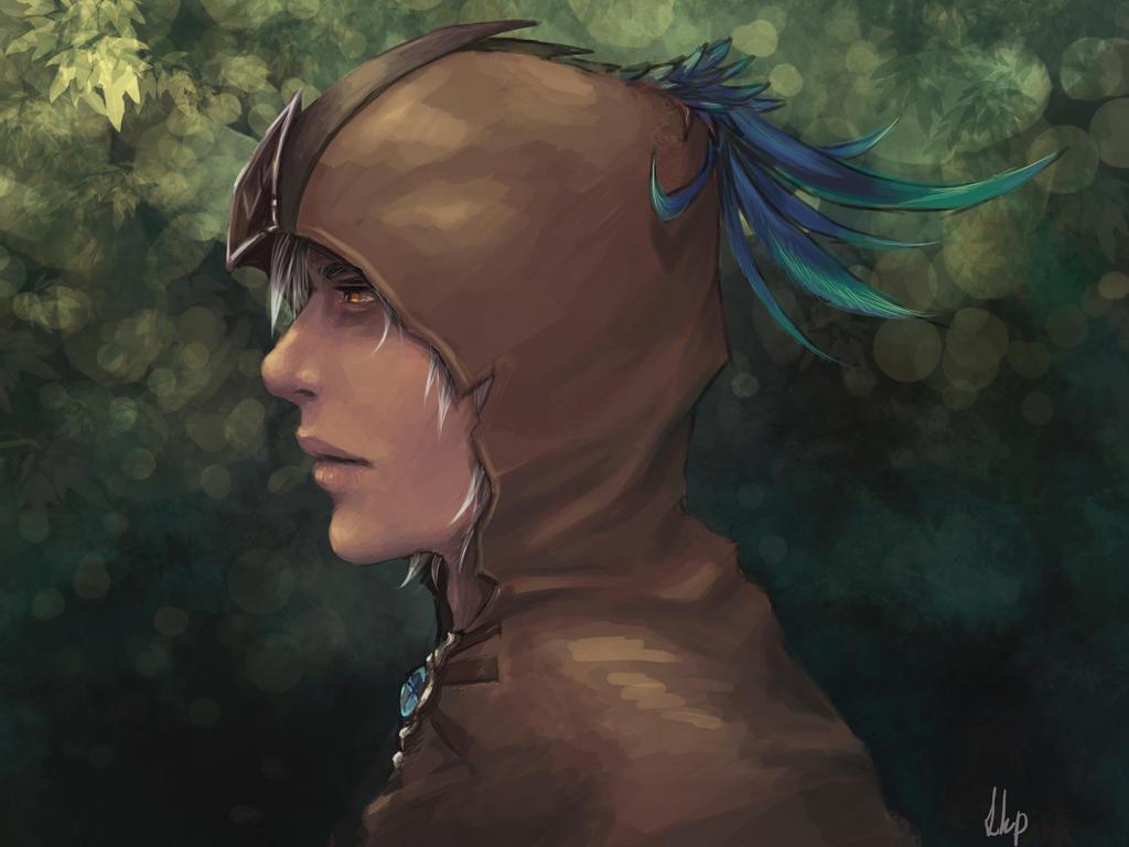 Hooded being by EshiraArt