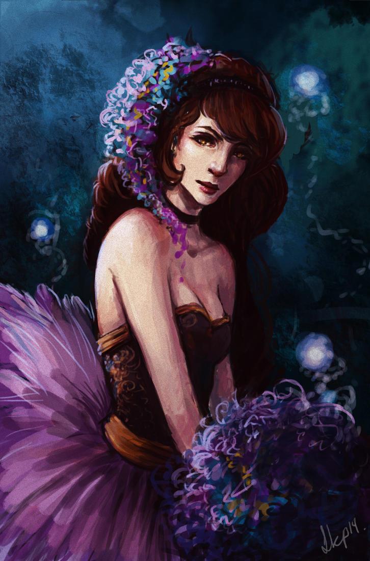 Purple Girl by EshiraArt