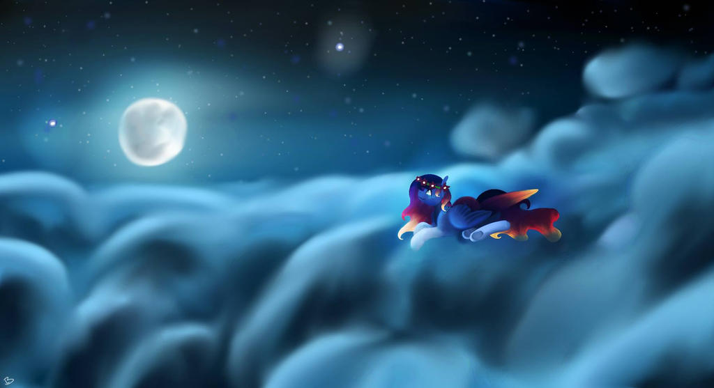Night Sky by lILLUS1234