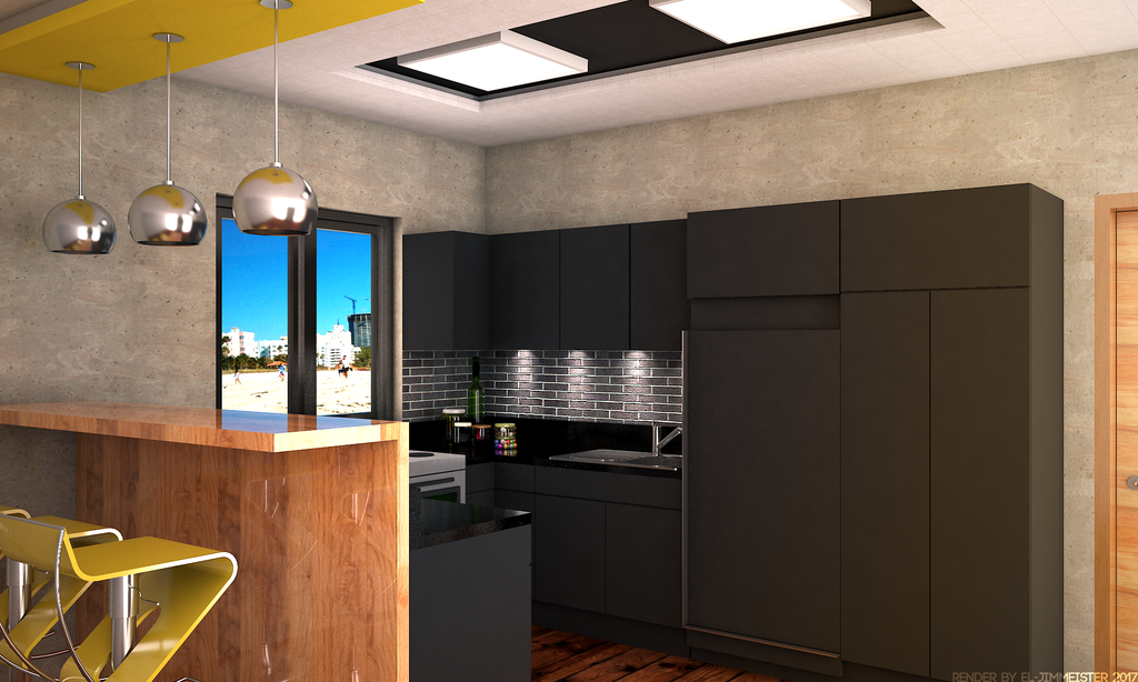 black and yellow kitchen by el jimmeister on deviantart