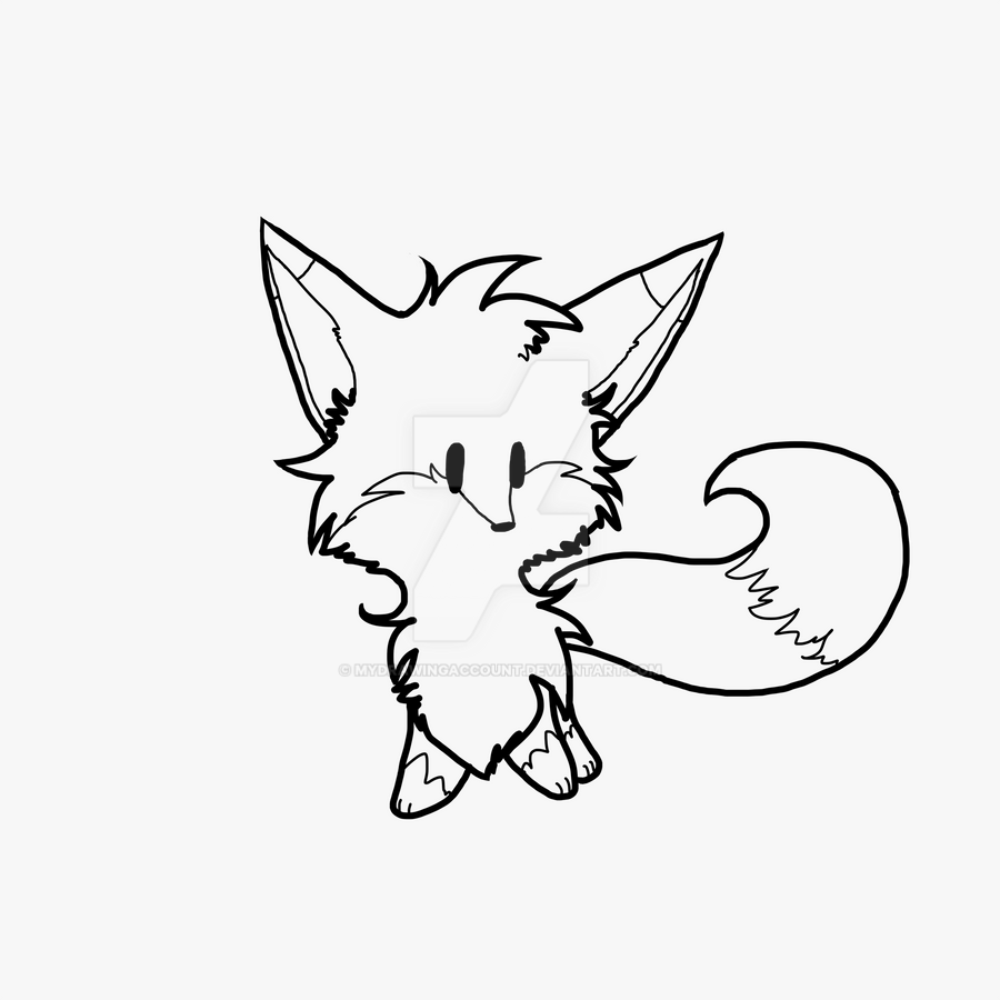 Line Drawing Fox : Fox line art by mydrawingaccount on deviantart