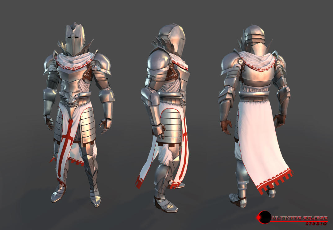 Knight Armor Turn by Dantert