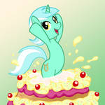 lyra on a cake