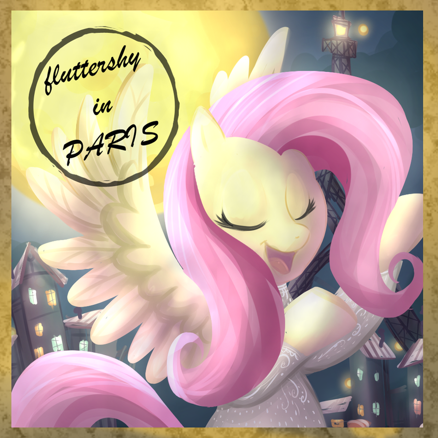 fluttershy in paris by CSImadmax
