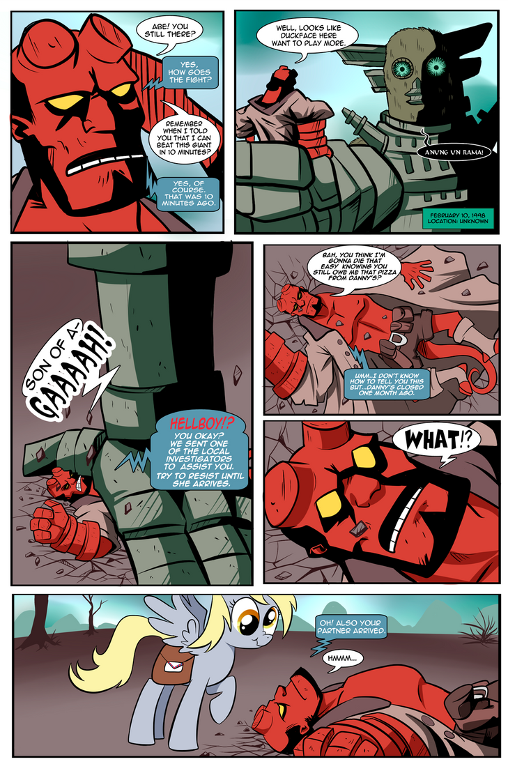 team-up derpy hellboy 01 by CSImadmax