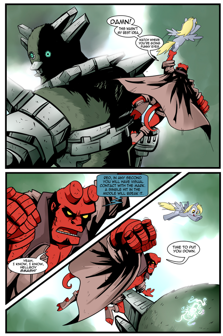 team-up derpy hellboy 03 by CSImadmax