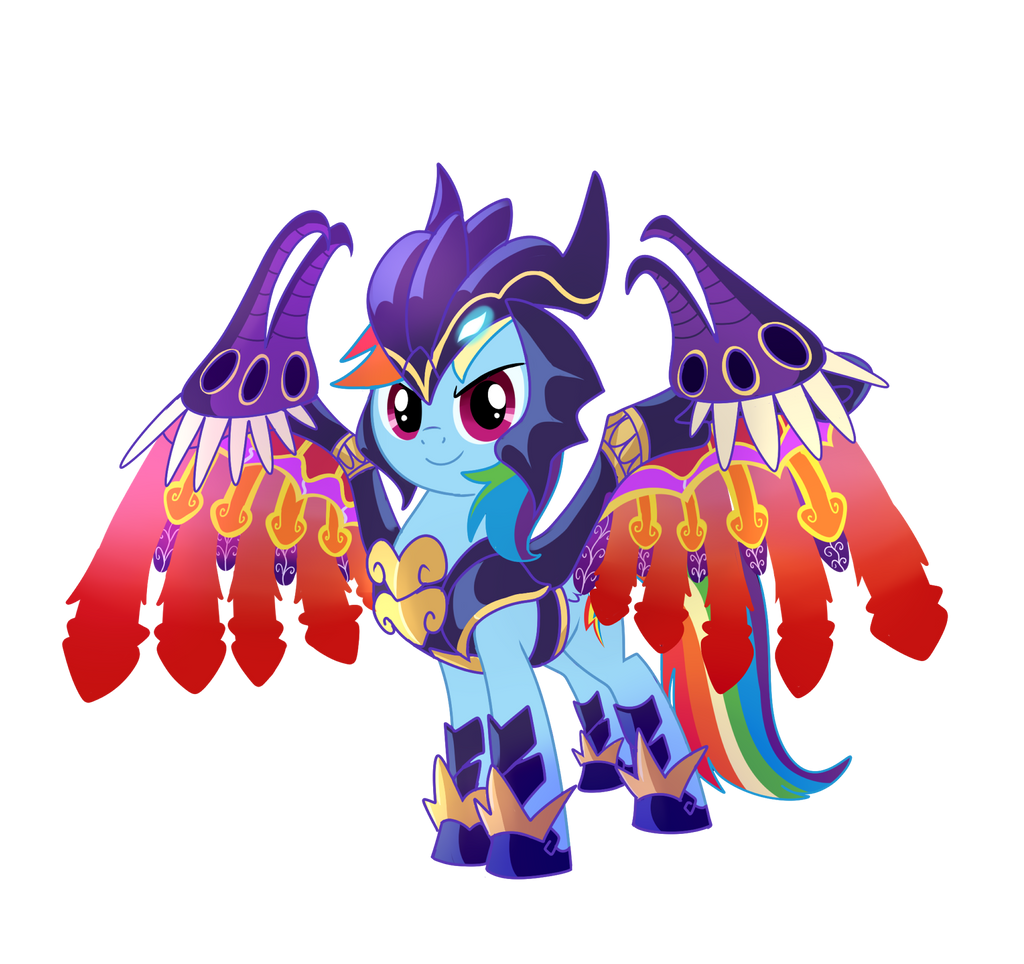 Summon Bahamut Rainbow Dash by CSImadmax