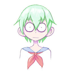 Green Hair Girl