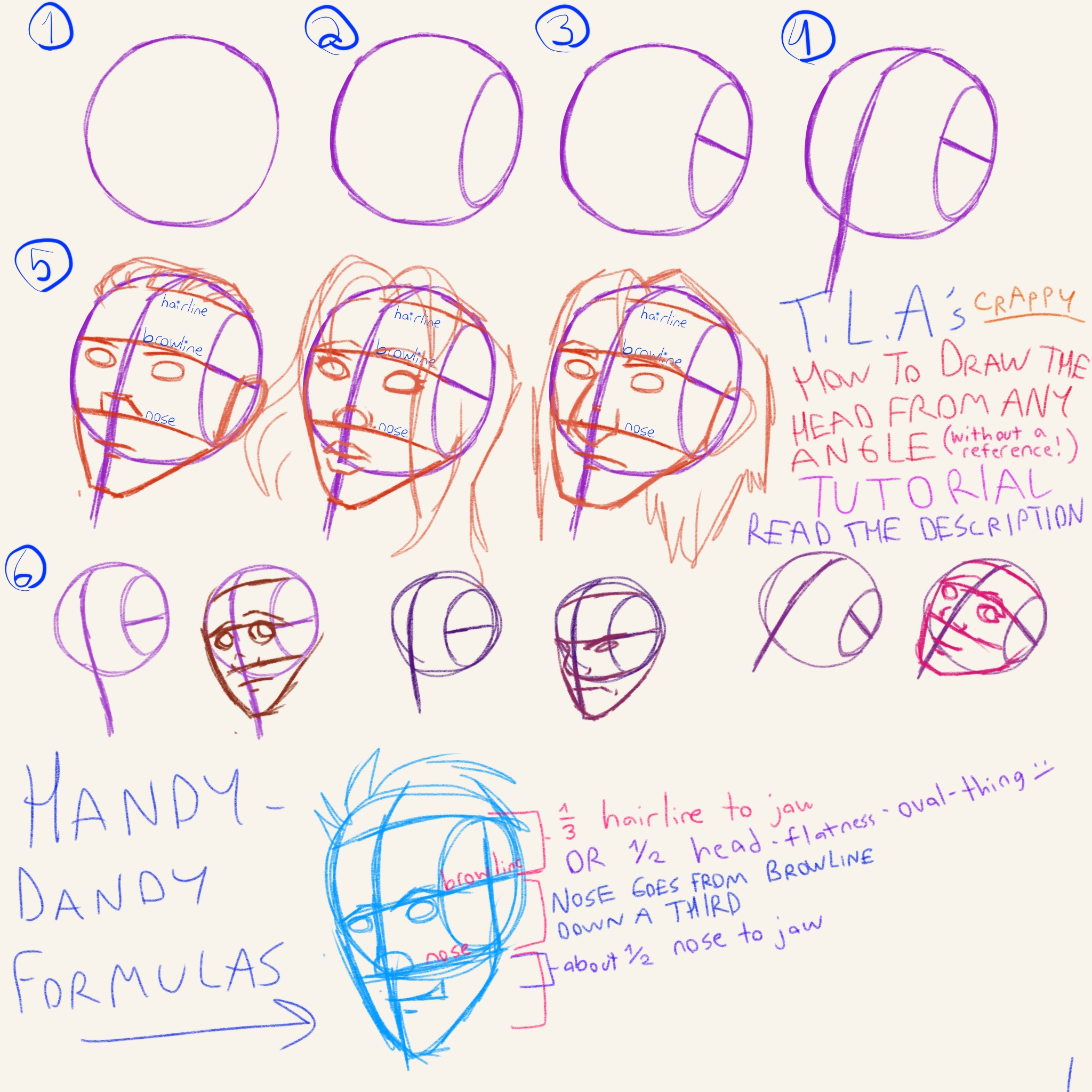 how to draw a head in different angles anime guys